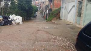Rua antes aplicação Agente Antipó - São Bernardo do Campo-SP