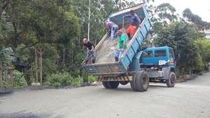 Aplicação do pó de pedra - São Bernardo do Campo-SP